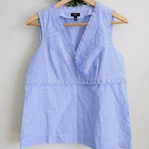 Talbots Striped Blouse Sleeveless Size 10